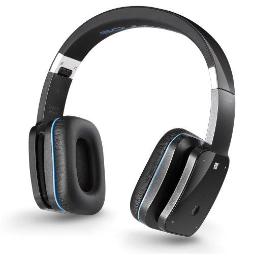 deleyCON SOUNDSTERS Prestige BT05 Bluetooth Stereo-Kopfhörer für Handy/PC/Apple iPhone schwarz