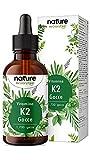 Vitamina K2 MK7 in Gocce, 50 ML, Alto Dosaggio 200 mcg per 10 Gocce, Supporto per Cartilagine & Ossa, Vitamina K2 MK-7 Menachinone Contenuto 99,97% All-Trans - Premium Gnosis Vit MK7