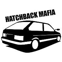 車のステッカーの装飾 15x11c CMハッチバックマフィア面白い車のステッカービニールデカールシルバー/ブラックカーの自動車の車の装飾 (Color : Black)