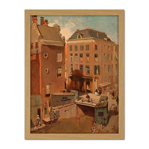 Rochussen Osjessluis Dichtbij Kalverstraat Amsterdam Kunstwerk ingelijste kunst kunst print 18X24 Inch