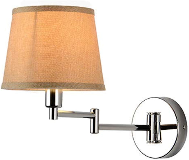 ZHANG NAN ● Moderne Luxus Villa Wandleuchte Verstellbare Lampe Arm Schlafzimmer Nachttischlampe Dekorative Gang Wohnzimmer Studie E27 Warmen Stoff Schatten ●