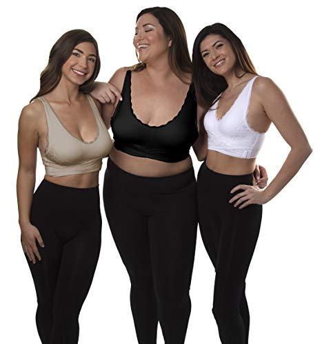 CARAMIA Lot DE 3 SOUTIENS-Gorge Taille XXL Sujetador Push Up, Multicolor, Extra Extra Large para Mujer