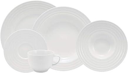 Serviço de Jantar e Chá, Porcelana Schmidt, Arcos 578 9 020 240 058 0000, Branco, pacote de 20
