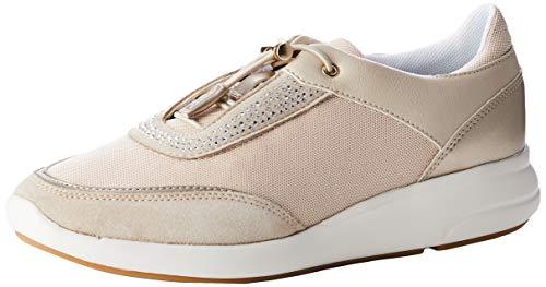 Geox Damen D Ophira C Sneaker, Beige (Lt Taupe/Lt Gold Ch62l), 39 EU