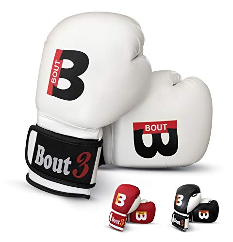 BOUT3® Boxhandschuhe Kickboxen, Handschuhe Muay Thai | Boxhandschuhe männer, Frauen | MMA Sandsack Boxsack Boxen Sparring Training | Kampfsport, UFC–Punchinghandschuhe, Coachinghandschuhe
