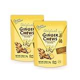 Prince of Peace Original Ginger Chews, 4 oz. – Candied Ginger – Candy Pack – Ginger Chews Candy – Natural Candy – Ginger Candy for Nausea - 2 Pack from Prince of Peace