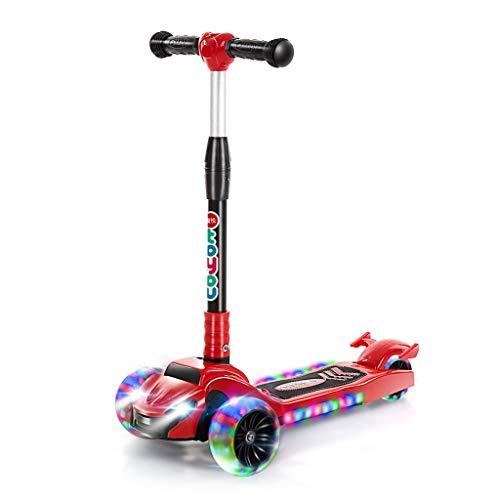 GXY Kinder Single Tretroller Junge Mädchen Roller 2~14 Jahre Alt Anfänger Kinder Fahrrad Outdoor Fahrrad Outdoor Kinder Stepper (Color : E, Size : 64CM*80CM)