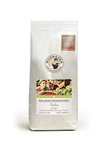 Murnauer Kaffeerösterei MALABAR - Espressobohnen aus Indien - Premium Kaffee - von Hand frisch & schonend geröstet - Espresso und Filterkaffee - 250g gemahlen