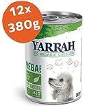 Yarrah Cibo Bio Bocconcini Vega per Cani - 12 x 380 gr - per Cani a Partire da 1 Anno - Ideali per Cani Che Hanno Difficoltà a Digerire Le Proteine Animali - con Mirtilli Rossi Bio