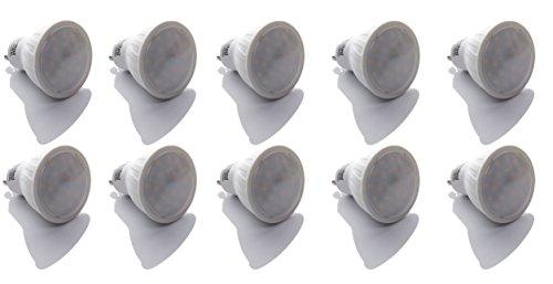 10er Pack LED Leuchtmittel GU10 230Volt 6Watt - 450Lumen - 3000Kelvin - 120° Abstrahlwinkel - Kein Trafo Nötig - Ersatz Für 50W Halogenlampen - LED Birnen - Lampen - Einbaustrahler