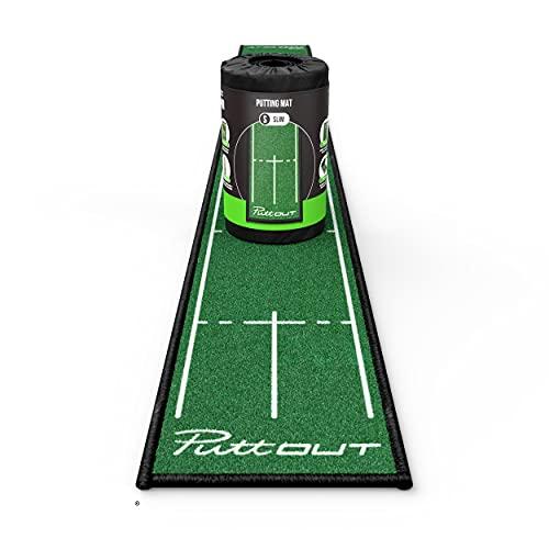 PuttOut Slim Golf Puttingmatte, grün, 25cm x 240cm