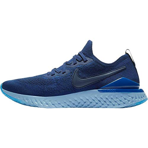 Nike Epic React Flyknit 2, Scarpe. Uomo, Blu Blue Void Indigo Force Black, 42.5 EU