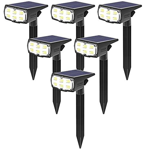 GOLUMUP 36 LED Luces Solares para Exterior Jardin Focos Solares Exterior Impermeable...