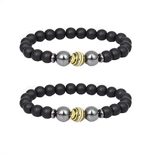 Lymphatic Drainage Black Obsidian Bracelet,hematite Stone Bracelet,anti-swelling Black Obsidian Anklet,for Women Men Jewelry Gift (B, 1PCS)