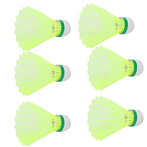 Aoutecen Bádminton Luminous Badminton 6Pcs Bádminton con Peso Ligero para Entrenamiento