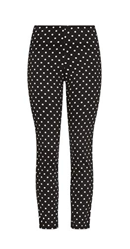 &harmony Juniors Skinny Fit Pants – Trendy Black and White Colored Polka Dot