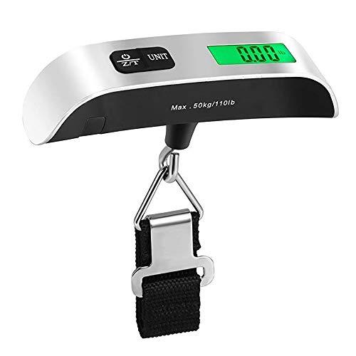 Portátil Escala Digital LCD Pantalla 110lb/50kg Equipaje Electrónico Colgante Maleta de Viaje Pesos Bolsa de Equipaje Herramienta de Equilibrio de Peso