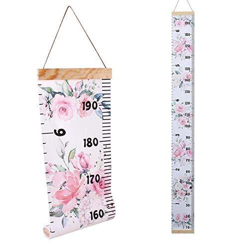 Regla de la tabla de crecimiento del bebé, regla de pared para medir los cambios de altura de los niños, 200 cm x 21 cm