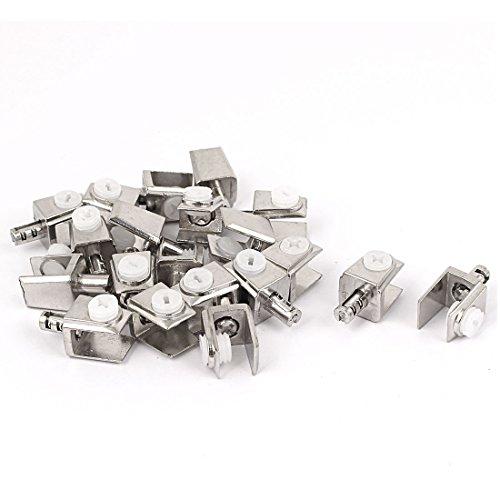 Aexit 20x Terrassen & Zäune Einstellbare 3mm- 8mm dicken Rechteck Glasklemmen Regal Halterung Geländer & Latten Clip Halter