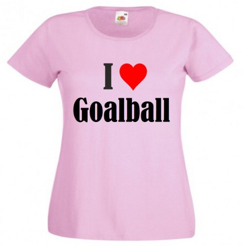 Camiseta I Love Goalball para mujer, hombre y niños en los colores negro, blanco y rosa. rosa 6 años