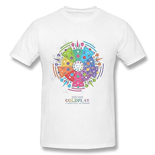 Coldplay Tour 2016 Logo T Shirt for Men Short Sleeve T-Shirt In White