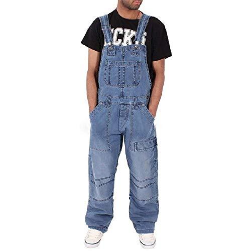 Herren Ripped Jeans Fashion Herren Ripped Jeans Overalls Distressed Denim Latzhose für Herren Hosenträgerhosen