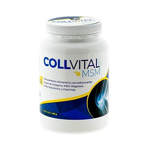 Colageno Collvital en polvo con MSM, Magnesio, Ácido hialuronico y vitaminas con sabor a vainilla 368Gr en polvo