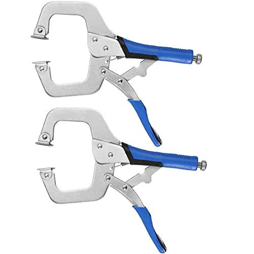 C Clamp, AMTOVL 2PCS 6 Inch Metal Grip Locking C-Clamp Adjustable Clamp C...