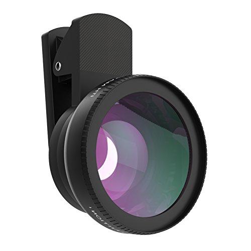 MoKo 2 in 1 Obiettivi Cellulari Kit, Clip-on Lente Super Grandangolare 0.45X + Lente Super Macro 15X, per iPhone SE / 6s / 6s Plus / 5s, Galaxy S7 / S7 Edge / S6, HTC e altri Smartphone, NERO