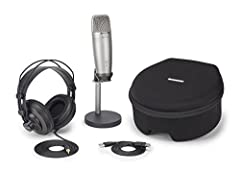 Large, 19mm diaphragm ensures pristine studio-quality audio Headphone output for zero-latency monitoring Ideal for recording music, ADR work, Sound Foley, voiceovers, audio for YouTube videos Smooth, flat frequency response of 20Hz-20kHz 16-bit, 44.1...
