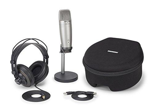 Samson - C01U Pro Podcasting Pack - Pack con microfono USB a condensatore e accessori