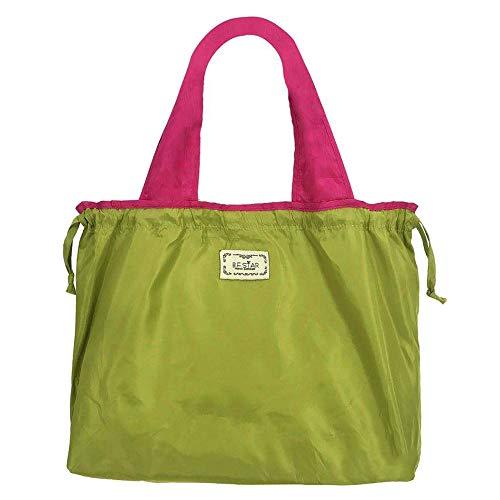 【1個購入でコンビニエコバッグ1個付き】エコバッグ 男性 女性 折りたたみ コンパクト 大きい メンズ レディース マイバッグ コンビニ 大容量 買い物バッグ バッグ トート 軽量 ショッピングバッグ おしゃれ 無地 バイカラー (グリーン)