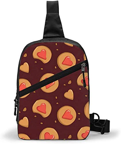 Lebkuchen-Zimt-Kekse, Schultertasche, Brusttasche, Outdoor, Wandern, Reisen, persönliche Tasche für Damen und Herren, wasserabweisend