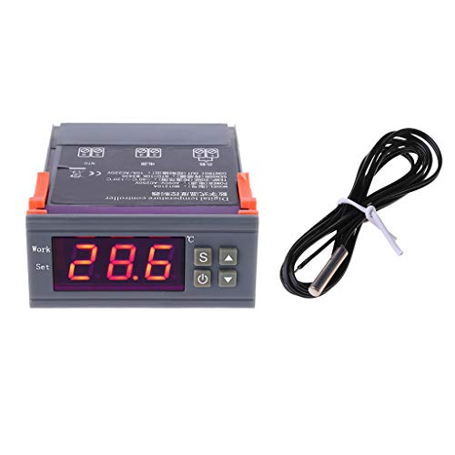PINH-lang Thermostat,110V 220V Digitaler Temperaturregler 10A Kühlung Heizthermostat MH-1210A