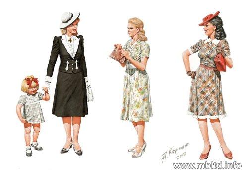 Masterbox 1 : 35 échelle Femmes de WWII Era Figurine