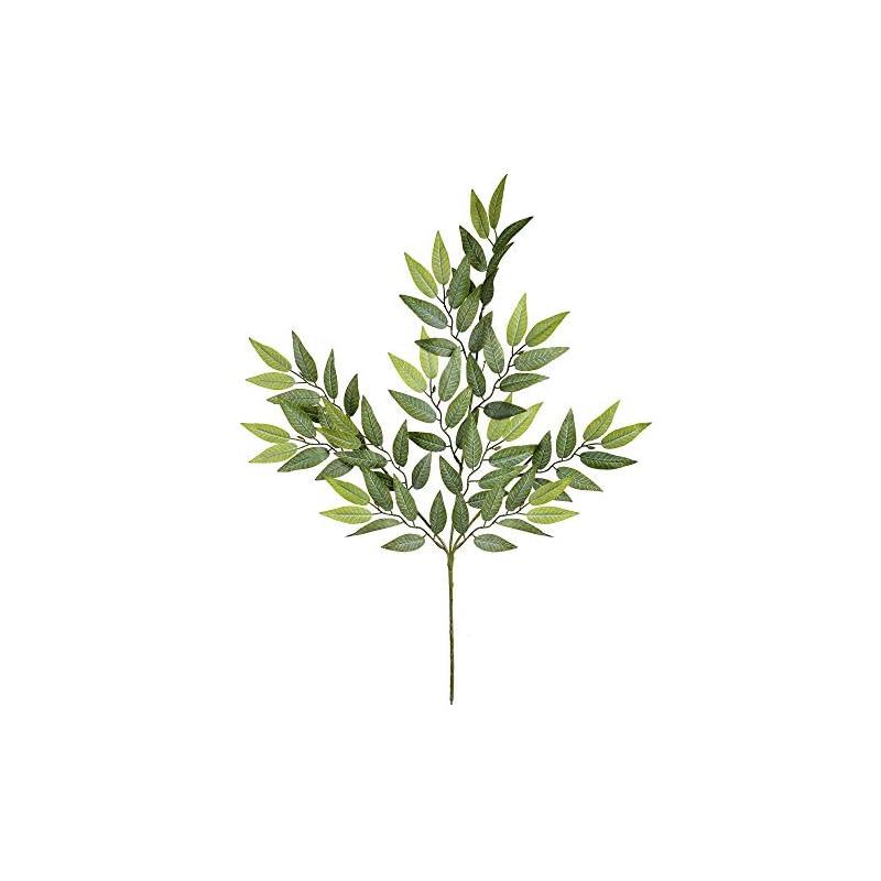 "silk flower arrangements vickerman mini green leaves includes 6 sprays per pack. artificial-flowers, 0"", 6 piece"