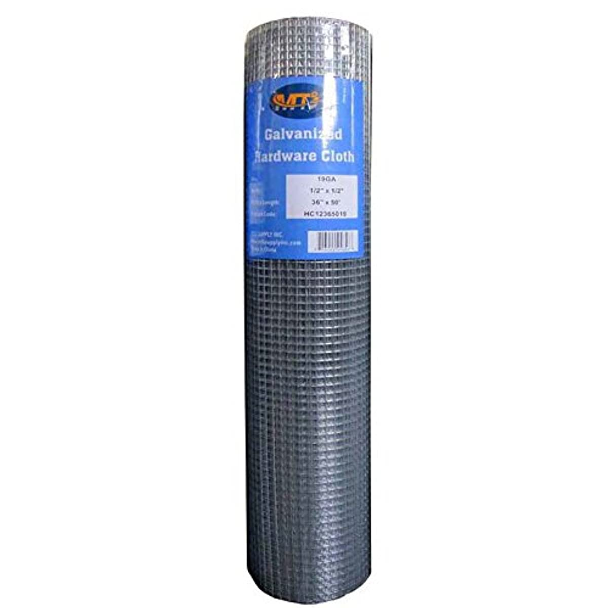 MTB Galvanized Hardware Cloth 36 Inch x 50 Foot -1/2 Inch x 1/2 Inch 19GA (Also Sold in 25' Length,24