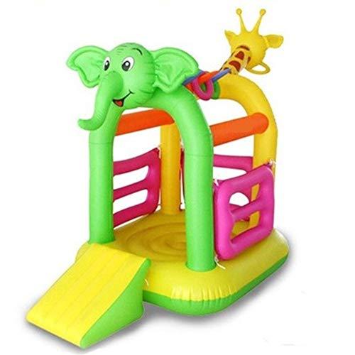 ZhengELE Parque de Atracciones de Uso en el hogar Cubierta al Aire Libre Juegos Infantiles Infantil Diapositiva Inflable Castillo Inflable Hinchable casa de la Despedida de la Infancia