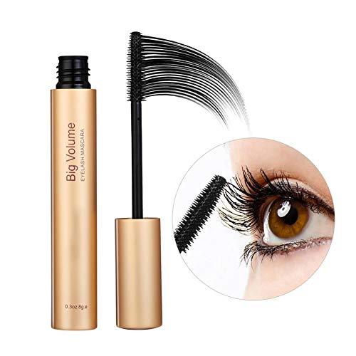 Mascara Eye Makeup, Fiber Lash Mascara, Natural Waterproof Sweatproof Long Lasting Eyelash Mascara Makeup Cosmetic