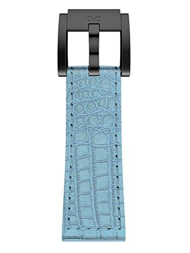 TW Steel Marc Coblen Armband Uhrenband Uhrenarmband Leder 22 MM Kroko Hellblau LB_HB_K_B