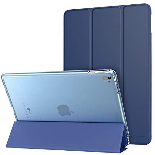 MoKo iPad Pro 9.7 Hülle - PU Leder Tasche Schutzhülle Schale Smart Hülle mit Translucent Rücken Deckel, mit Auto Schlaf/Wach Funktion & Stanfunktion für Apple iPad Pro 9.7 Zoll Tablet, Marineblau