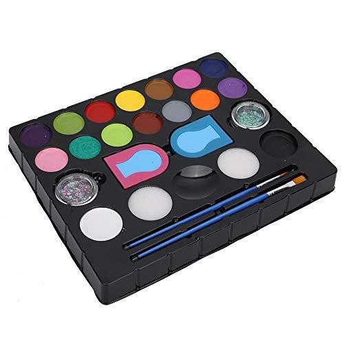 Peinture faciale Peinture corporelle Pigment Brosse Glitter Poudre Enfants Kit d'outils cosmétiques DIY pour hommes et femmes