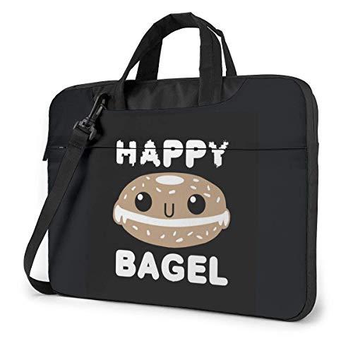 Housse pour Ordinateur Portable, Happy Bagel Black...