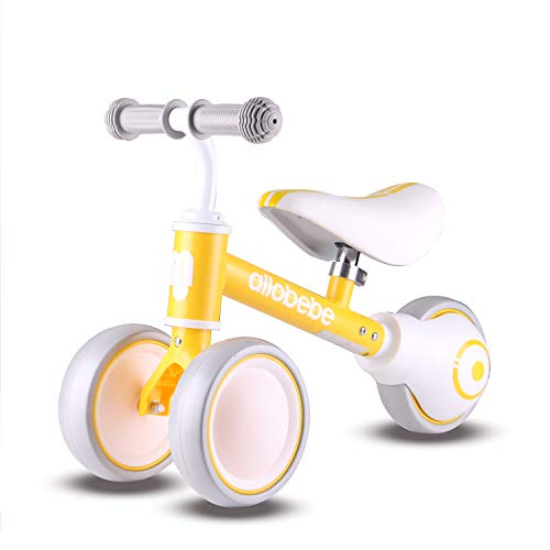 allobebe Baby Balance Bike, Toddler Bikes Bicycle for 12-36 Months for 1 Year Old Girl and boy to Scoot Around with Adjustable Seat Smooth Silent 3 Wheels