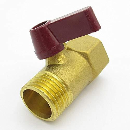 Válvula De Bola, Válvula De Globo De Latón Bidireccional De Cierre Mini Válvula De Aislamiento para Aceite, Agua, Aire (Color : Red)