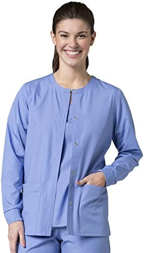 Red Panda Women s Warm Up Solid Scrub Jacket Small Ceil Ceil Blue Size Small product image