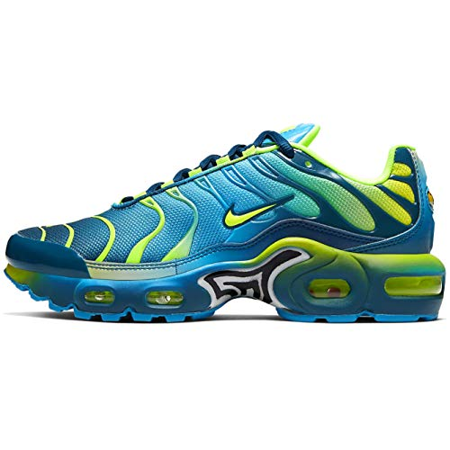 Nike Air Max Plus GS QS Running Trainers CT0962 Sneakers Scarpe (UK 4 US 4.5Y EU 36.5, Blue Hero Volt 401)