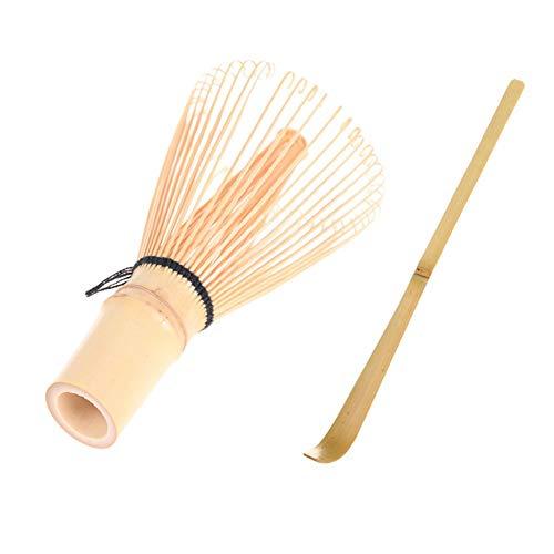 Toruiwa Matcha Besen Set Matcha Bambusbesen Bambuslöffel Set Schneebesen Bambus Chasen Matcha Pulver Quirl Werkzeug Japanische Teezeremonie Zubehör 100 Borsten (Matcha Besen Set)