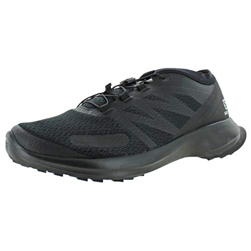 Salomon mens Sense Flow Trail Running, Black/Black/Black, 8.5 US