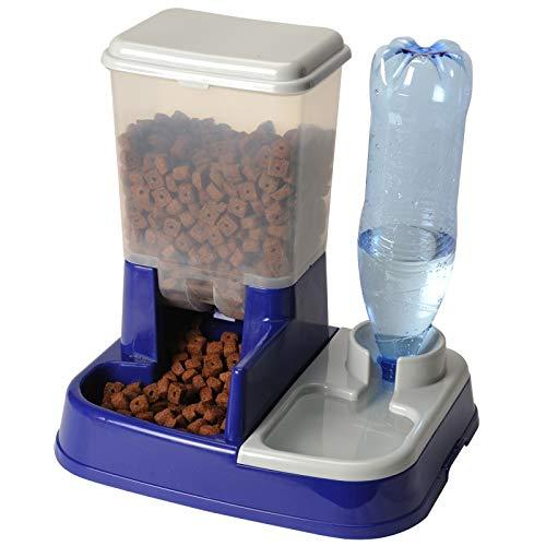 Distributeur d'eau et de croquettes automatique pour chien